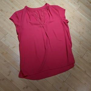 Fuchsia crochet blouse